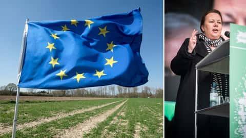 EU-Fahne und Ursula Heinen-Esser