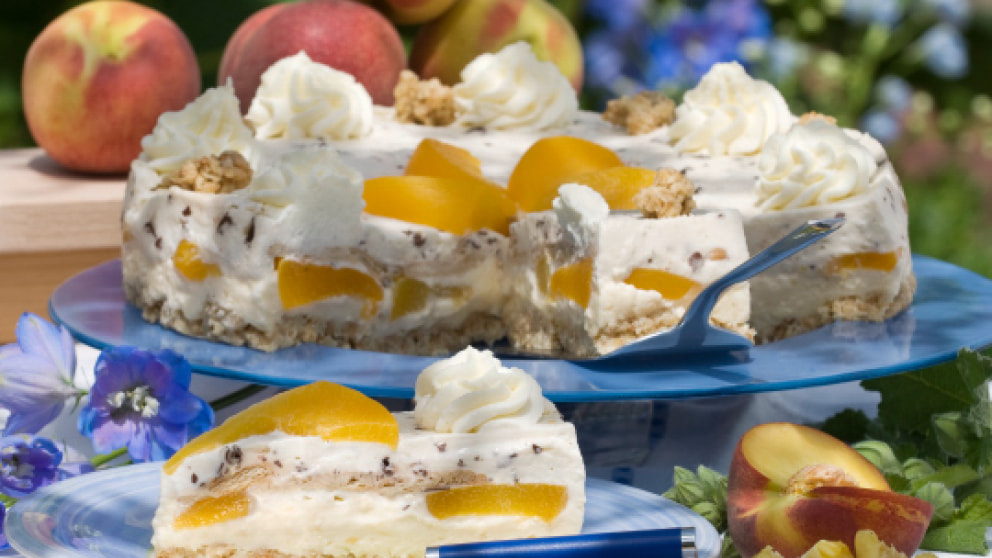 Pudding Pfirsich Torte